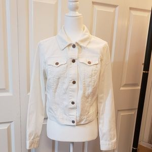 White Crop Jean Jacket